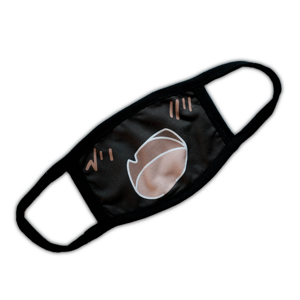 Cute Fang Face Mask - Black