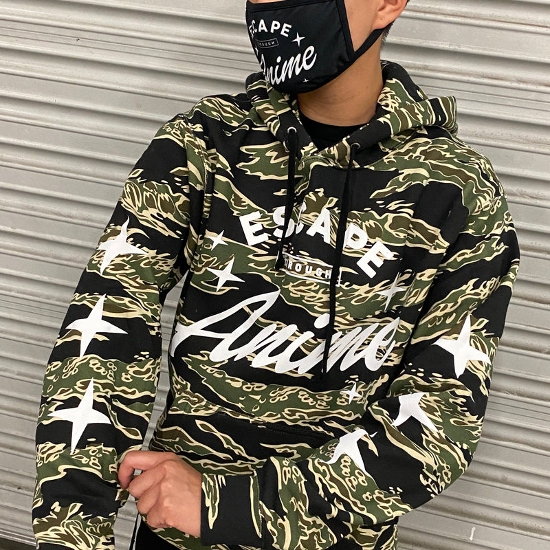 Escape Through Anime Hoodie - Strider Camo