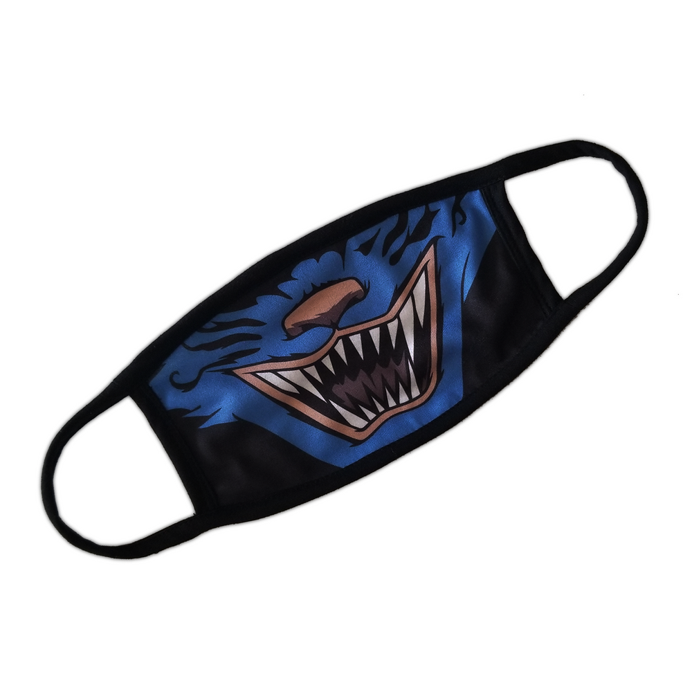 Monster Cat Face Mask - Black