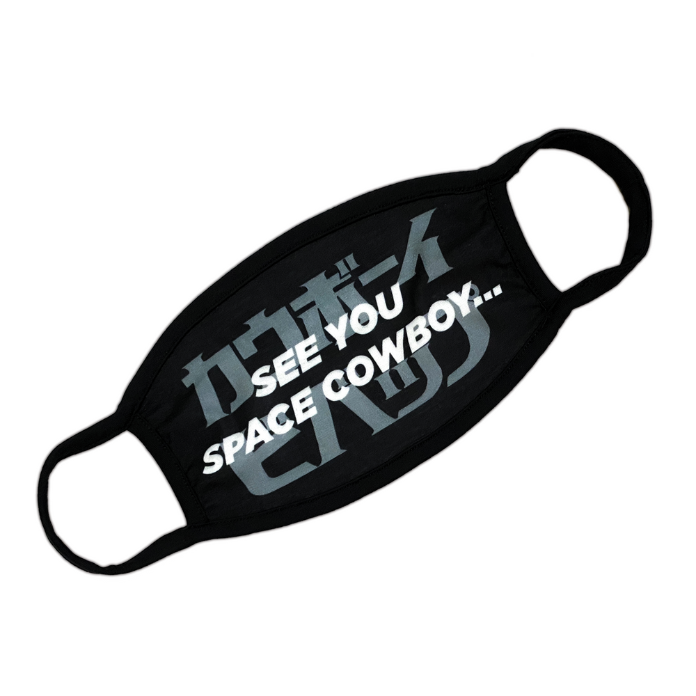 Space Cowboy Face Mask - Black