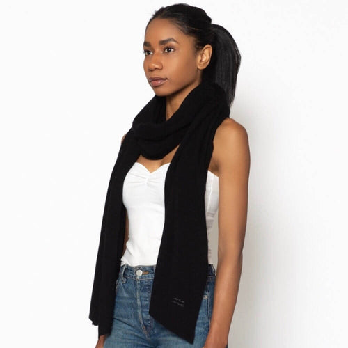Cashmere Travel Wrap Black