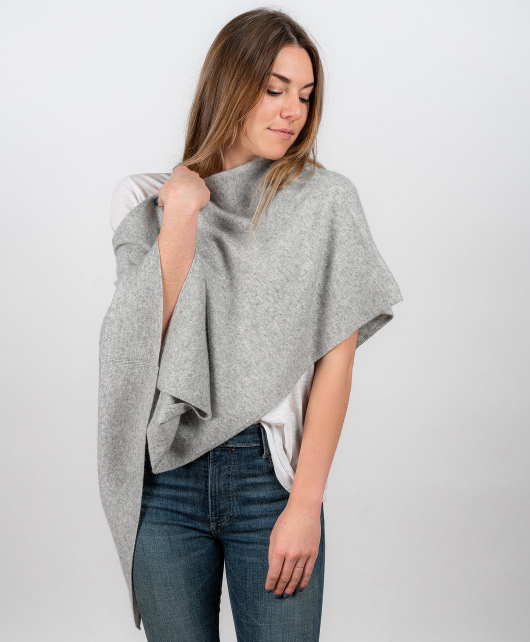 Cashmere Topper - Grey