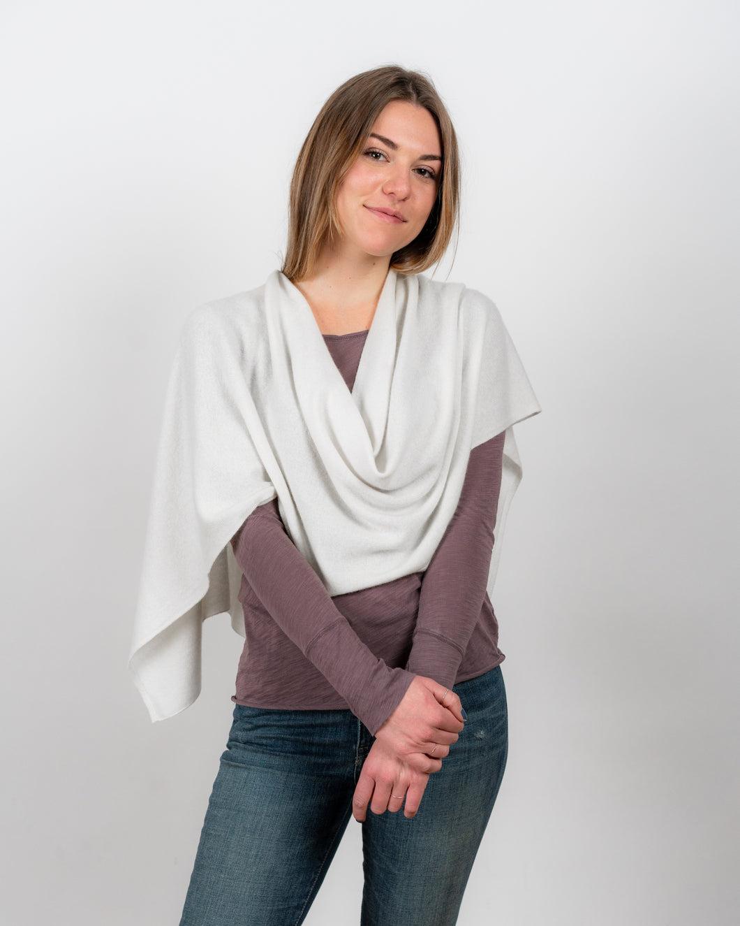 Cashmere Topper - Ivory