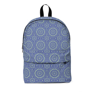 Maria Green and Periwinkle Classic Large Backpack