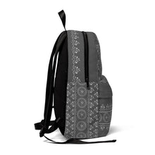 Floral Mandala in Dark Gray Classic Large Backpack with space for Monogram