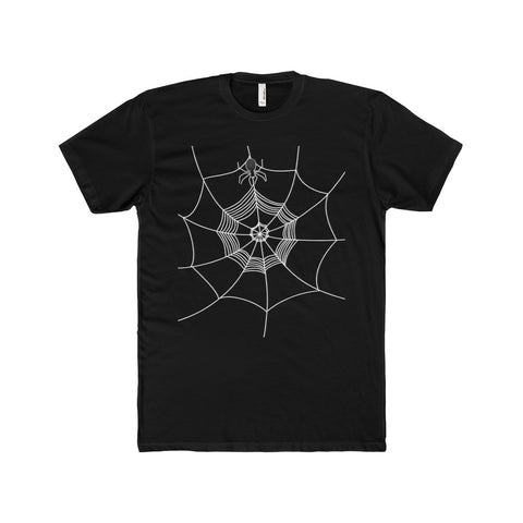 Spider Web Men's Cotton Crew Tee - Front Side Only, Multi Colors