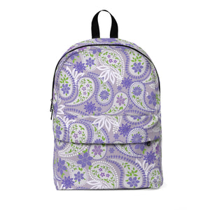 Purple Paisley Classic Large Backpack