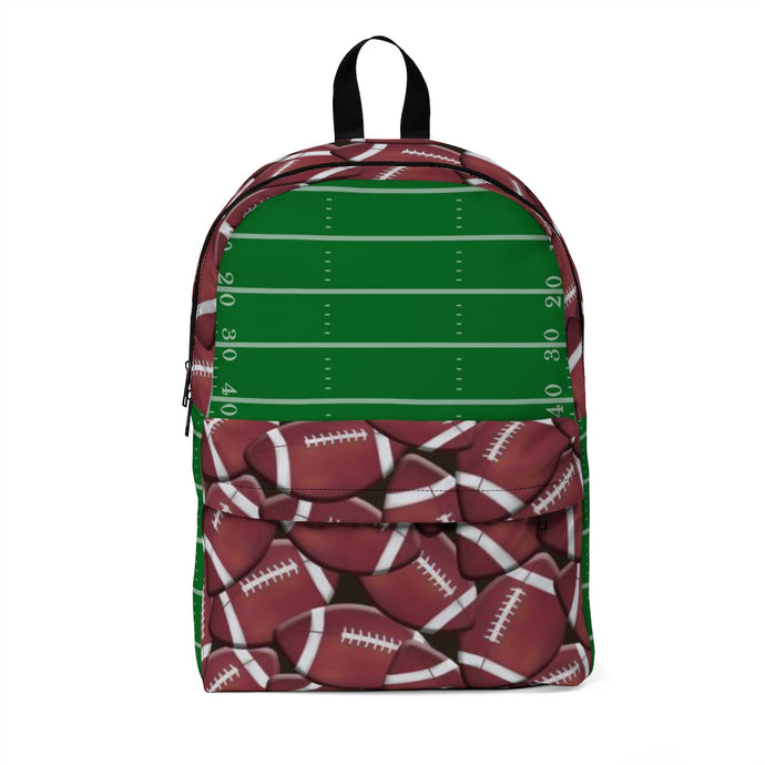 Football with Football Field Large Backpack