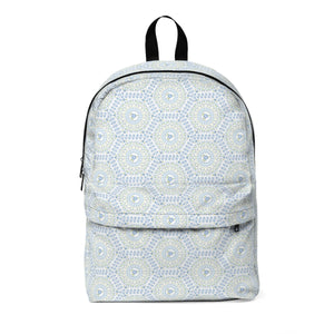 Polygon Blue Floral Classic Large Backpack