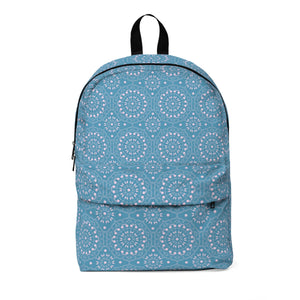 Maria Pink and Blue Classic Large Backpack