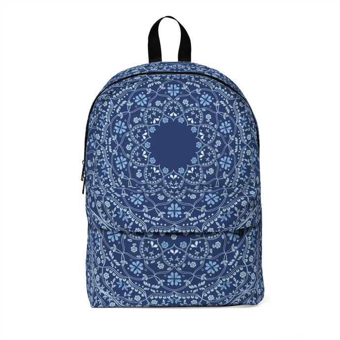 Blue Mandala in Blue Classic Large Backpack with space for Monogram
