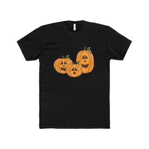 Men's Jack O Lantern Cotton Crew Tee - Front Side Only, Multi Colors