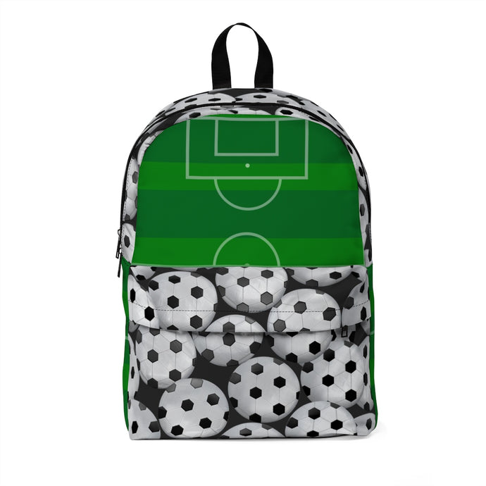 Soccer Balls with Soccer Field Classic Large Backpack