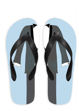 Groom with Blue Background Flip Flops