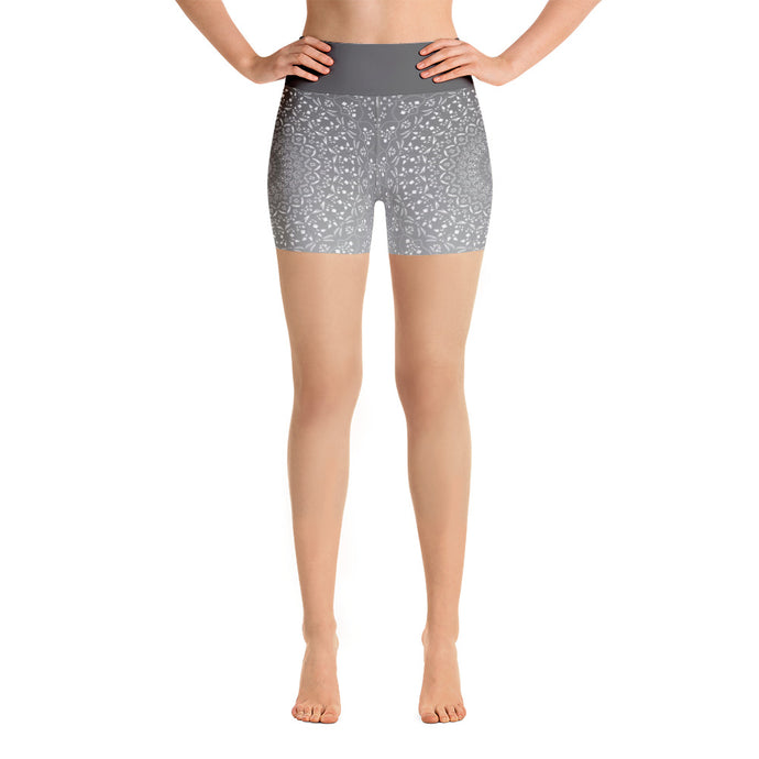 Mandala Grey Yoga Shorts