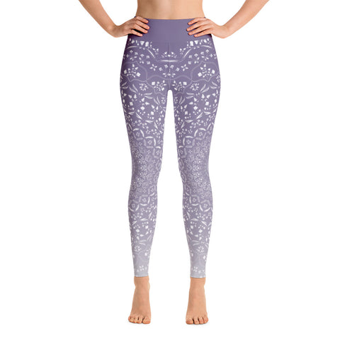 Mandala Purple Yoga Leggings