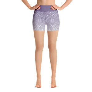 Mandala Purple Yoga Shorts