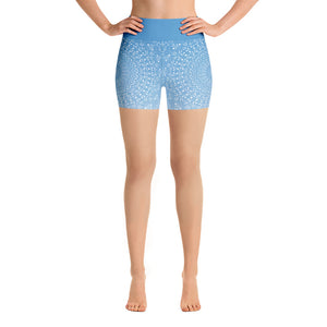 Mandala Blue Yoga Shorts
