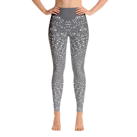 Mandala Grey Yoga Leggings