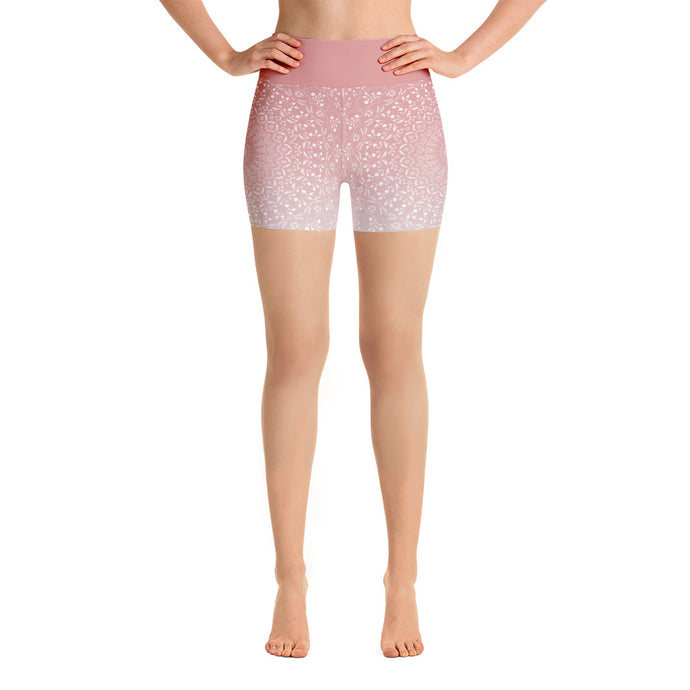 Mandala Peach Yoga Shorts