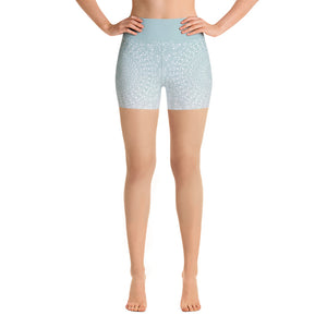 Mandala Sea Foam Yoga Shorts