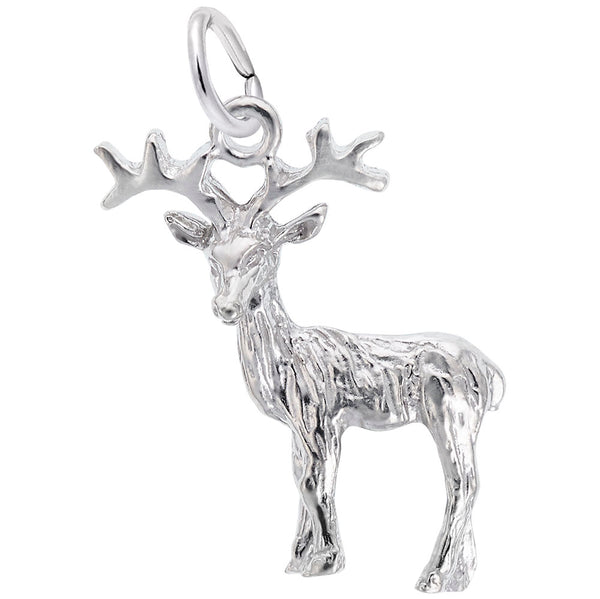 Rembrandt Charms Reindeer Charm Pendant Available in Gold or Sterling Silver