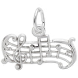 Rembrandt Charms Music Staff Charm Pendant Available in Gold or Sterling Silver