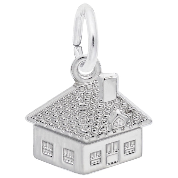 Rembrandt Charms House Charm Pendant Available in Gold or Sterling Silver