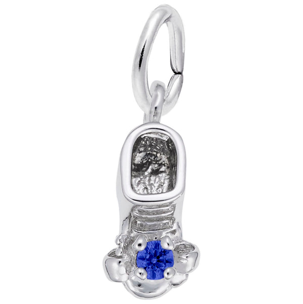 Rembrandt Charms 09 Babyshoe September Charm Pendant Available in Gold or Sterling Silver