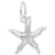 Rembrandt Charms Starfish Charm Pendant Available in Gold or Sterling Silver