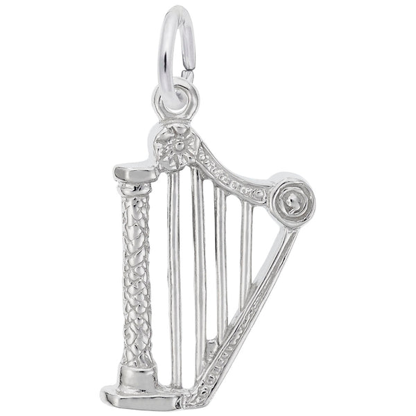 Rembrandt Charms Harp Charm Pendant Available in Gold or Sterling Silver