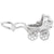 Rembrandt Charms Baby Carriage Charm Pendant Available in Gold or Sterling Silver