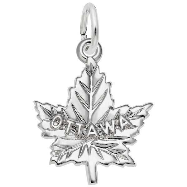 Rembrandt Charms Ottawa Charm Pendant Available in Gold or Sterling Silver