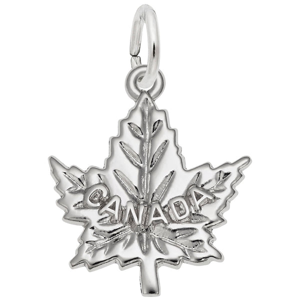 Rembrandt Charms Canada Maple Leaf Charm Pendant Available in Gold or Sterling Silver