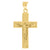10kt Yellow Gold Mens Textured Crucifix Cross Religious Charm Pendant