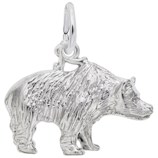 Rembrandt Charms Grizzly Bear Charm Pendant Available in Gold or Sterling Silver