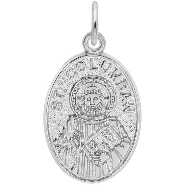 Rembrandt Charms St. Columban Charm Pendant Available in Gold or Sterling Silver