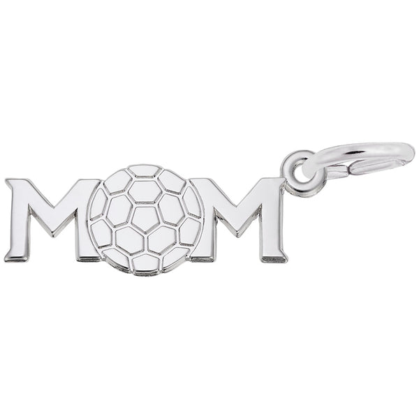 Rembrandt Charms Soccer Mom Charm Pendant Available in Gold or Sterling Silver
