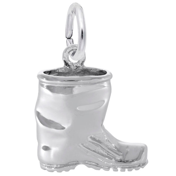 Rembrandt Charms Rubber Boot Charm Pendant Available in Gold or Sterling Silver