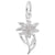Rembrandt Charms Edelweiss Charm Pendant Available in Gold or Sterling Silver
