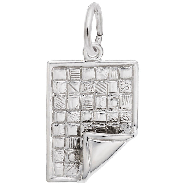 Rembrandt Charms Quilt Charm Pendant Available in Gold or Sterling Silver