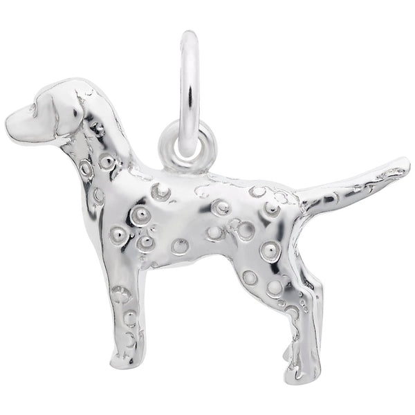 Rembrandt Charms Dalmatian Charm Pendant Available in Gold or Sterling Silver