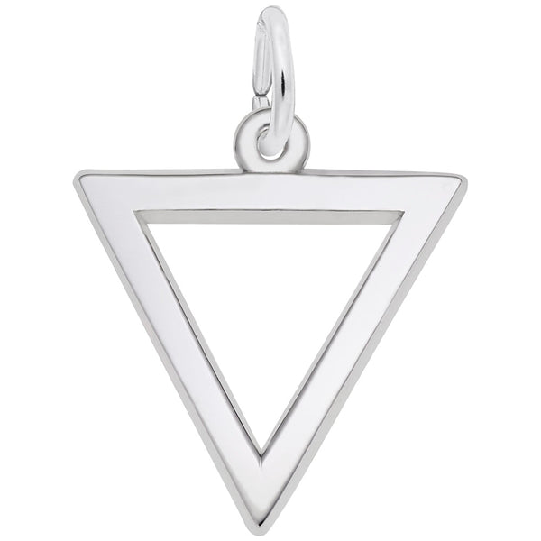 Rembrandt Charms Triangle Charm Pendant Available in Gold or Sterling Silver