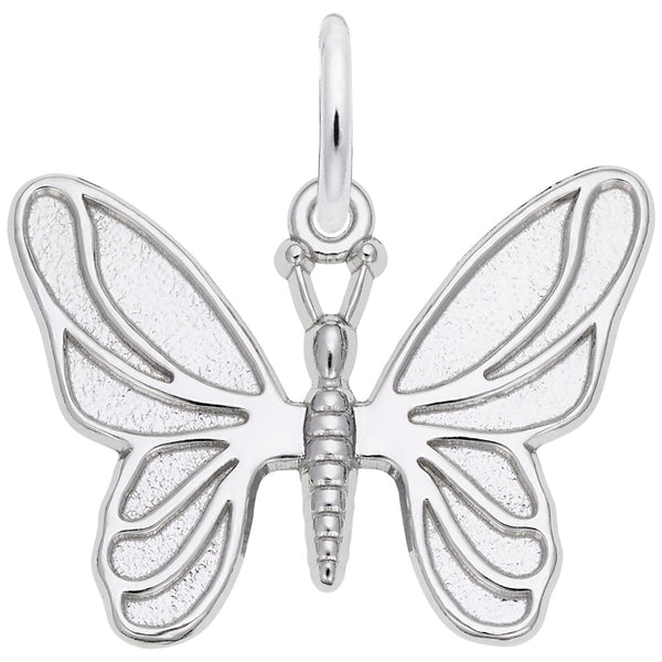 Rembrandt Charms Butterfly Charm Pendant Available in Gold or Sterling Silver