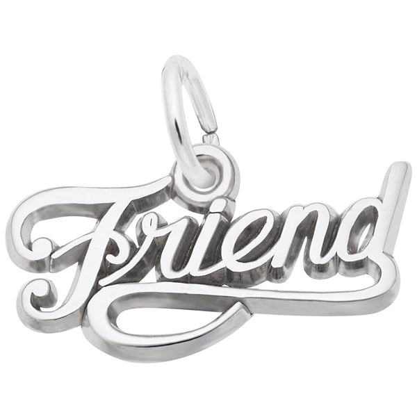 Rembrandt Charms Friend Charm Pendant Available in Gold or Sterling Silver
