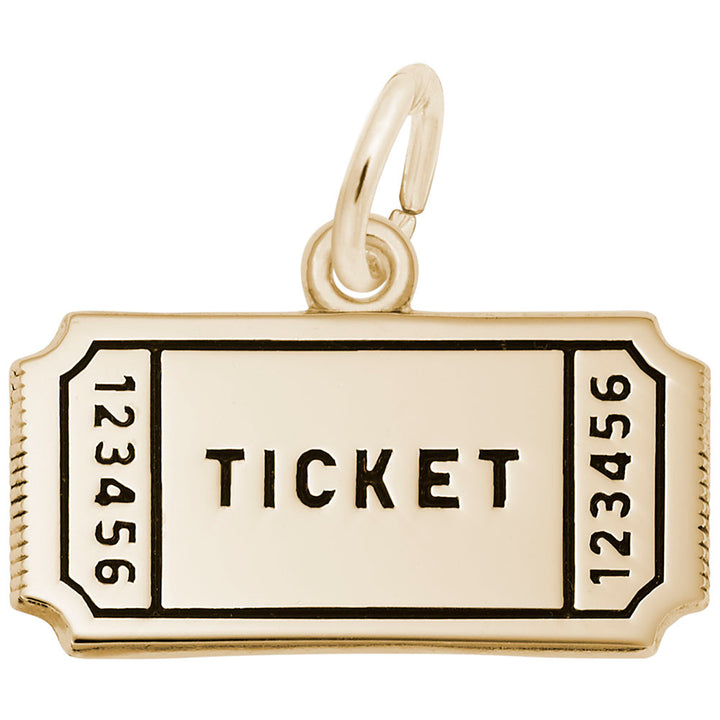 Rembrandt Charms 10K Yellow Gold Movie Ticket Charm Pendant