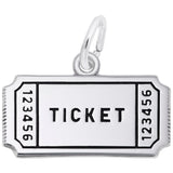 Rembrandt Charms 925 Sterling Silver Movie Ticket Charm Pendant