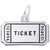 Rembrandt Charms Movie Ticket Charm Pendant Available in Gold or Sterling Silver