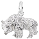 Rembrandt Charms 925 Sterling Silver Grizzly Bear Charm Pendant