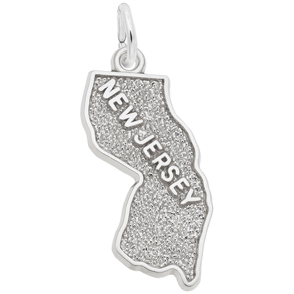 Rembrandt Charms New Jersey Charm Pendant Available in Gold or Sterling Silver